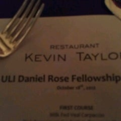 Photo taken at Restaurant Kevin Taylor by Alison J. on 10/19/2012