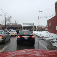 Photo taken at Railroad Crossing - New York & Pine by Michael S. on 12/31/2012