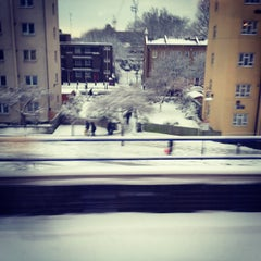Photo taken at Shadwell DLR Station by Mark W. on 1/21/2013