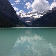 Photo taken at Lake Louise by Rodrigo C. on 7/24/2013