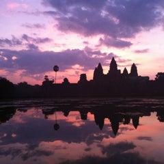 Photo taken at Angkor Wat Temple (អង្គរវត្ត) by Bea C. on 10/28/2012