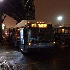 Photo taken at Williamsburg Bridge Bus Terminal by Justin B. on 1/5/2014