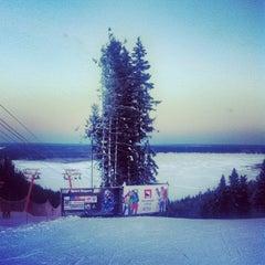 "Photo taken at Горнолыжный курорт ""Жебреи"" by Natalya S. on 12/8/2012"