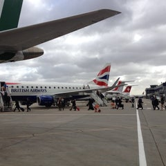 Photo taken at London City Airport (LCY) by Maria Cristina F. on 4/18/2013