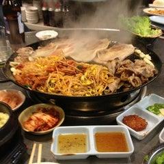 Photo taken at Honey Pig Gooldaegee Korean Grill by Hyun Jeong K. on 1/17/2013