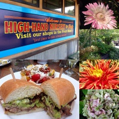 Photo taken at High Hand Nursery & Cafe by Andrew B. on 7/12/2015