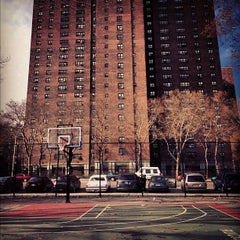 Photo taken at Rucker Park Basketball Courts by Antoine on 11/18/2012