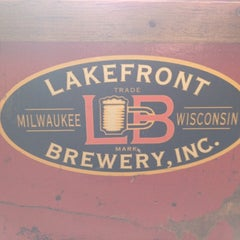 Photo taken at Lakefront Brewery by Steve D. on 1/24/2013