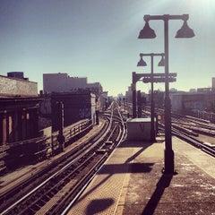 Photo taken at MTA Subway - Myrtle Ave/Broadway (J/M/Z) by Lasse K. on 11/21/2012