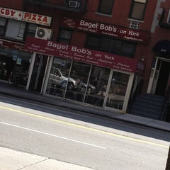 Photo taken at Bagel Bob's on York by Tanya V. on 4/14/2013