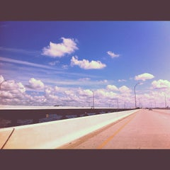 Photo taken at Howard Frankland Bridge by 🌜Jesy P. on 9/15/2012