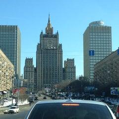 Photo taken at Смоленская-Сенная площадь by D L. on 3/28/2013