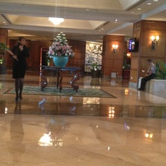 Photo taken at Shangri-La Hotel by Dhini D. on 1/18/2013