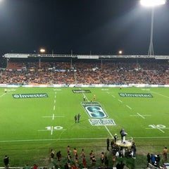 Photo taken at Waikato Stadium by Phil a. on 7/4/2014