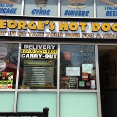 Photo taken at George's Hot Dogs by Betty C. on 4/27/2013