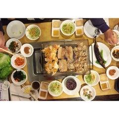 Photo taken at Han Joo by Tina W. on 12/26/2014