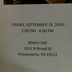 Photo taken at Mitten Hall by Thomas B. on 9/19/2014