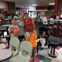 Photo taken at Buffaloe Lanes South Bowling Center by Adam S. on 8/8/2015