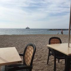 Photo taken at La Spiaggia Beach by Davor Ž. on 5/9/2015