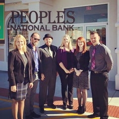 Photo taken at People's National Bank by Tom H. on 11/10/2015
