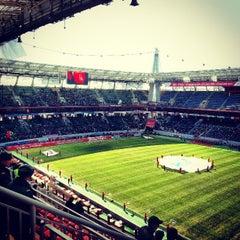 Photo taken at Стадион «Локомотив» by Евгений Р. on 4/13/2013
