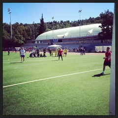 Photo taken at Soccer Field & Running Track ACG-Deree by Andrey R. on 3/23/2013
