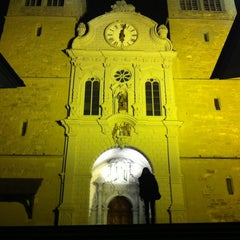 Photo taken at Hofkirche by Boyoung L. on 1/11/2013