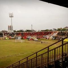 Photo taken at Stadion Kota Batik by Pasoepati on 8/8/2014
