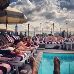 Photo taken at Soho House Rooftop by Jared Y. on 5/7/2013