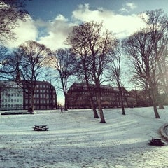 Photo taken at Ørstedsparken by Jorge A. on 12/7/2013