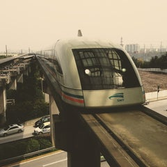 Photo taken at 磁悬浮龙阳路站 Maglev Train Longyang Road Station by Sergey 136th on 3/18/2013