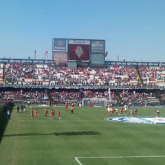 Photo taken at Estadio Nemesio Diez by David D. on 1/27/2013