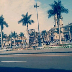 Photo taken at Plaza Mayor de Lima by Arturo P. on 12/14/2012