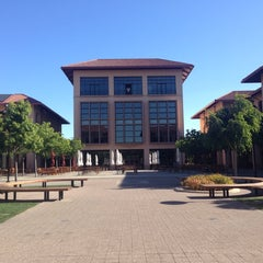 Photo taken at Bass Center & GSB Library by Christine H. on 5/11/2014