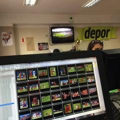 Photo taken at Diario Depor by Andrea C. on 6/17/2014
