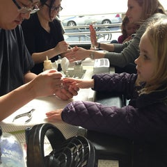 Photo taken at Pinky's Nails by Sarah K. on 3/3/2013