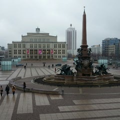 Photo taken at Augustusplatz by Cevino on 3/10/2013