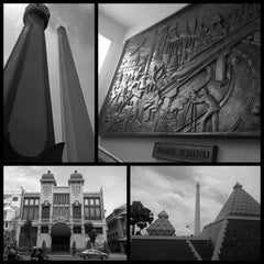 Photo taken at Tugu Pahlawan by Kaz_T_T_zaK on 1/7/2013