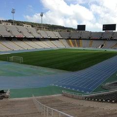 Photo taken at Estadi Olímpic Lluís Companys by Daniel W. on 3/22/2013
