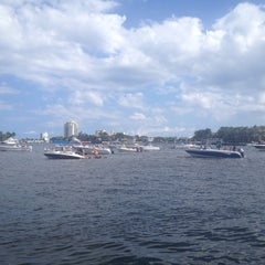 Photo taken at Intercoastal Sandbar by Angie G. on 10/20/2013
