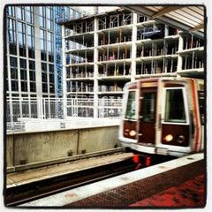 Photo taken at NoMa-Gallaudet U Metro Station by Toby O. on 10/24/2012