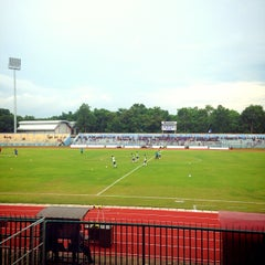 Photo taken at Stadion Wijayakusuma Cilacap by DEDI S. on 1/12/2014