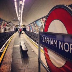 Photo taken at Clapham North London Underground Station by David John S. on 6/20/2013
