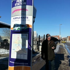Photo taken at Charm City Circulator Purple Route - Penn Station (Southbound) - #311 by Pete C. on 1/4/2014