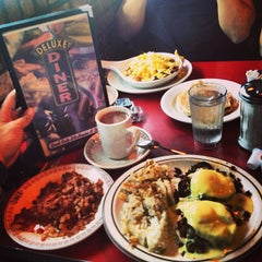 Photo taken at Deluxe Diner by Justin V. on 5/20/2013