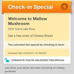 Photo taken at Mellow Mushroom by James B. on 12/26/2012