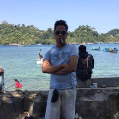 Photo taken at Pantai Sendang Biru by Biccar on 7/22/2015
