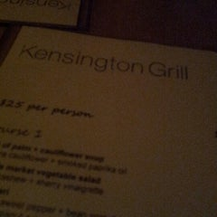 Photo taken at Kensington Grill by Dante M. on 1/17/2013