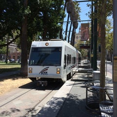Photo taken at VTA Lightrail North Saint James Station by Osamu Y. on 7/20/2014