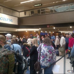 Photo taken at TSA Checkpoint C by Bryan N. on 9/16/2012